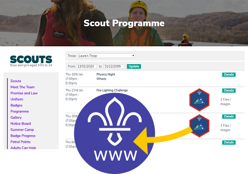 Scout Group Websites