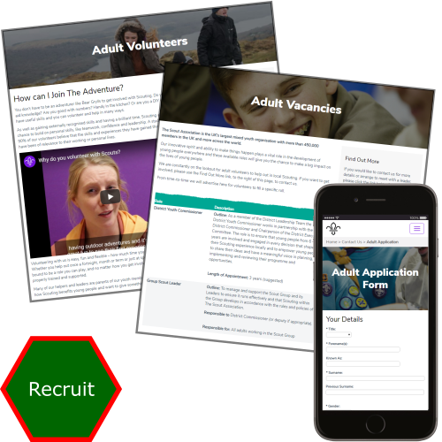 Recruit Scout adults and youth members