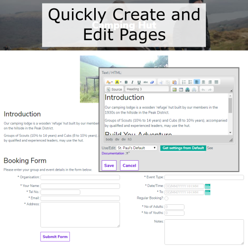 Create & Edit Pages