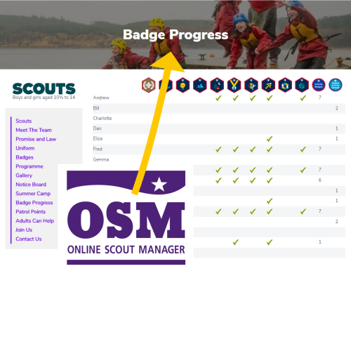OSM Badge Progress