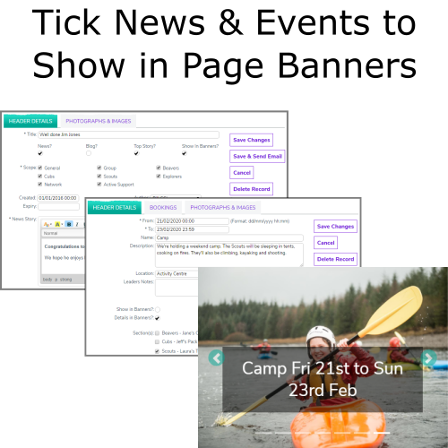 Tick to Show In Banners