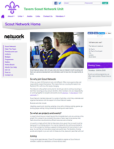 Scout Network Website Page