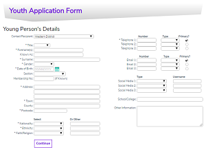 Young Person Form